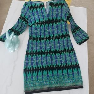 Laundry by Shelli Segal green patterned dress